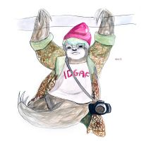 Hipster Sloth by betimoo