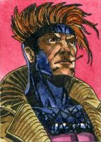 Gambit 2 Sketch Card by DKuang