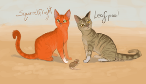 Squirrelflight and Leafpool by sugar-cat-candy