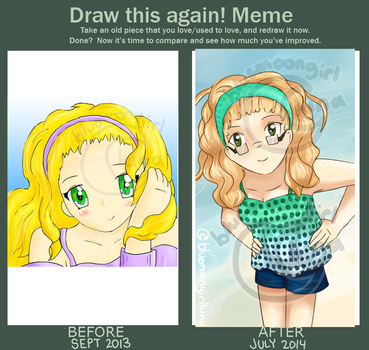 Draw this again meme by bluemoongirlluna