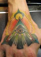 All-seeing eye tattoo by jinx2304