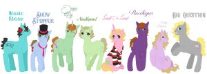 Me and my pals as ponies by AlexKingOfTheDamned