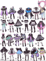 SOLD outfits by Guppie-Adopts