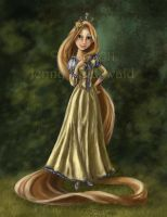 Rapunzel : coloring book by celticwren