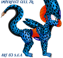 Dragonball Z-Feral Imperfect Cell Jr. by Squillarah