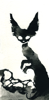 Ink Cat 8 by Myrntai