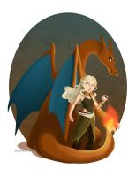 Pokemon of Thrones - Mother of Charizards by curioe
