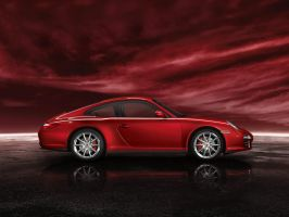 Red Carrera 4s by puddlz
