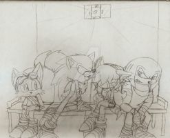 Sonic Boom::Oh Brother sketch WIP by Sonar15