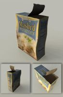 Beatup Box of Mashed Potatoes 3D Model Prop by sicklilmonky