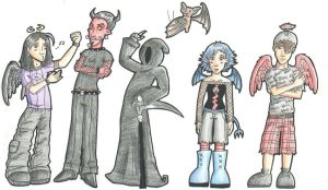 Comic characters by HapyCow