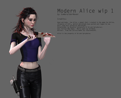 Modern Alice, wip1 by tombraider4ever