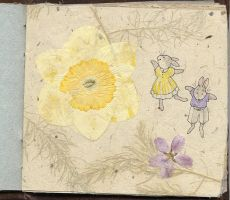 art book - rabbits and flowers by luve