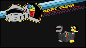 'Old School' Daft Punk wallpaper by Djbrony923