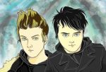 Gerard and Mikey Way by umebon