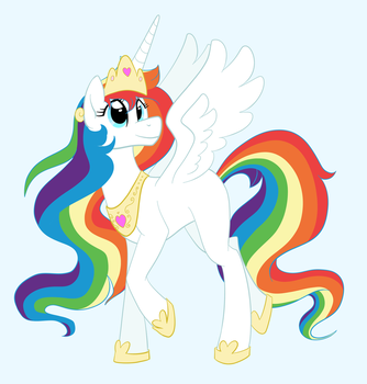 Rainbow Princess (REQUEST) by catlover1672