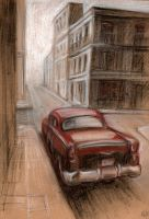 old car in a old city by gabrio76