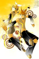 Kagamine Rin + Len Append by ikeda