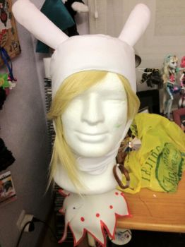 Fionna Adventure Time Bunny hat by saethewitch