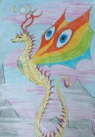 Dragon from another dimension by JudytaDragon