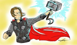 Sam as Thor by tigerkatz