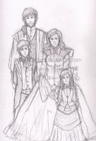 vitious family SKETCH by MikachuAttack