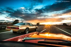 sunset cruising by AmericanMuscle