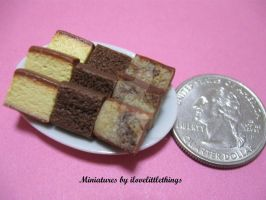 Miniature Butter n Marble Cake by ilovelittlethings