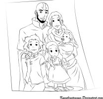 Aang and Family by Kyuubigetsugya