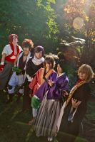 Hakuouki - kazama and the shinsengumi by visuvampy