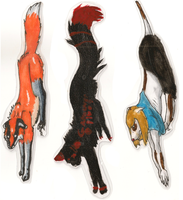 Tail holding paper doll things by Myscal