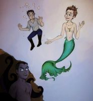Little Mermaid-ish: Kurt, Blaine, and Karofsky by ZiyalRising