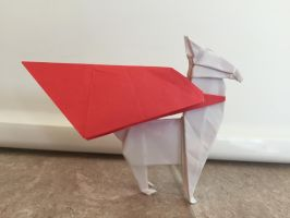 Origami super albino llama by Brickgenius27