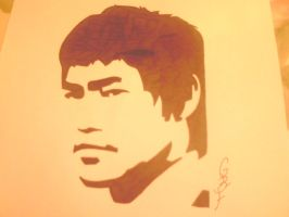 Bruce lee overlay drawing by gbftattoos