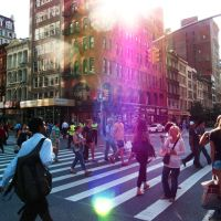 Late Afternoon Pedestrian Traffic In the Flatiron by luisroca