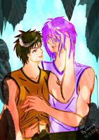 Outside the Game_Kiyoshi and Murasakibara by charista