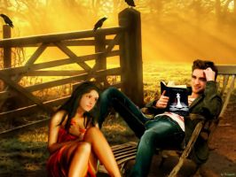 Autumn with Bella and Edward by Mango84