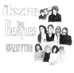 Favorite Bands(The Doors,The Beatles,Led zeppelin) by TheUnknownSoldier99