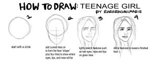 Tutorial: Girls Face by rararachelmarie