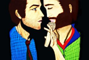 Jensen and Misha by Chaos-Angel142
