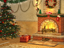 Christmas Scene Premade Background by Jumpfer-Stock