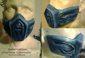 Mortal Kombat Frost Mask Commission by moonwildflower