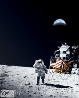 Neil Armstrong Dedication: Colors by BrothaBlu