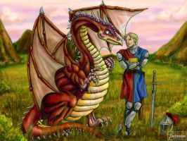 The Dragon and the Knight by DarthFar
