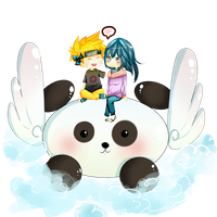 Magical Panda NaruHina by amu-chan13