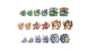 Revamped Kanto Starters by tenthcompanion