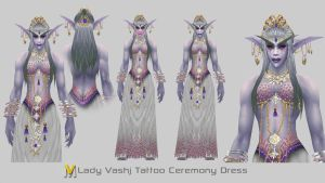 Vashj Ceremonial Dress by Vaanel