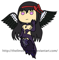Devil Homura chibi by thelimeofdoom