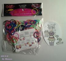 2. package Loom Bands Tires ^^ by Midoricica