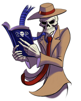 'My, this Skulduggery fellow seems quite dashing!' by Banjo-FellaBFBA